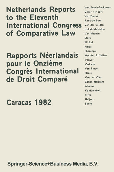 Netherlands Reports to the XIth International Congress of Comparative Law Caracas 1982 - Coverbild