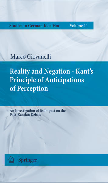 Reality and Negation - Kant's Principle of Anticipations of Perception - Coverbild