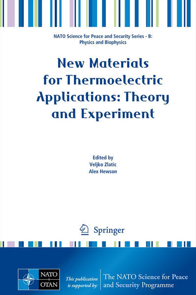 New Materials for Thermoelectric Applications: Theory and Experiment - Coverbild