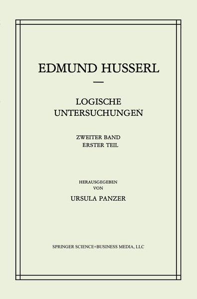 Logische Untersuchungen - Coverbild