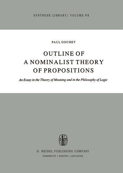 Outline of a Nominalist Theory of Propositions - Coverbild