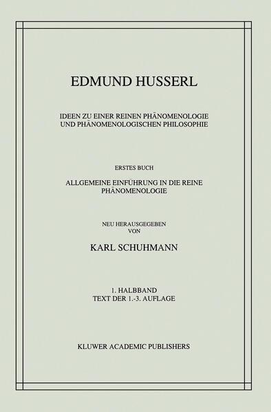 Ideen zu einer Reinen Phänomenologie und Phänomenologischen Philosophie - Coverbild