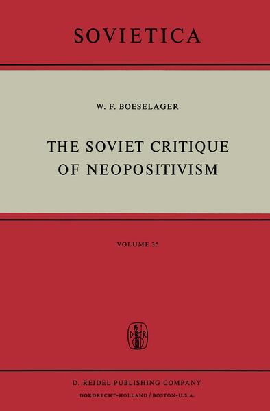 The Soviet Critique of Neopositivism - Coverbild
