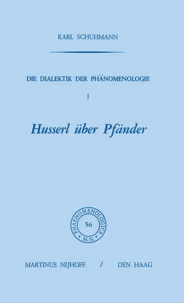 Die Dialektik der Phänomenologie I - Coverbild