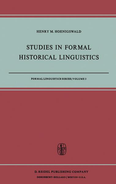 Studies in Formal Historical Linguistics - Coverbild