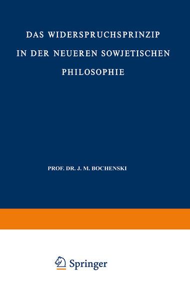 Das Widerspruchsprinzip in der Neueren Sowjetischen Philosophie - Coverbild
