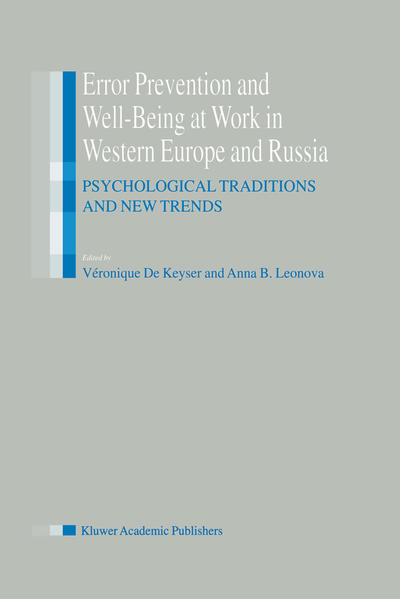 Error Prevention and Well-Being at Work in Western Europe and Russia - Coverbild