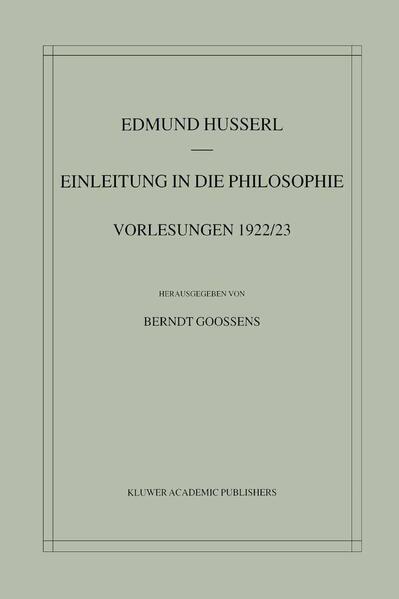 Einleitung in die Philosophie - Coverbild