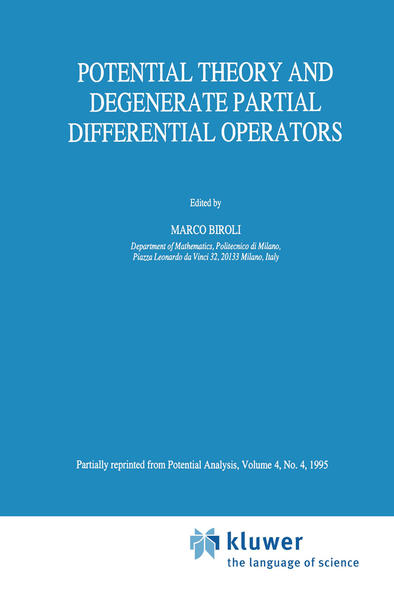 Potential Theory and Degenerate Partial Differential Operators - Coverbild