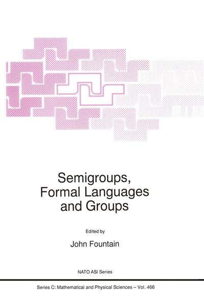 Semigroups, Formal Languages and Groups - Coverbild