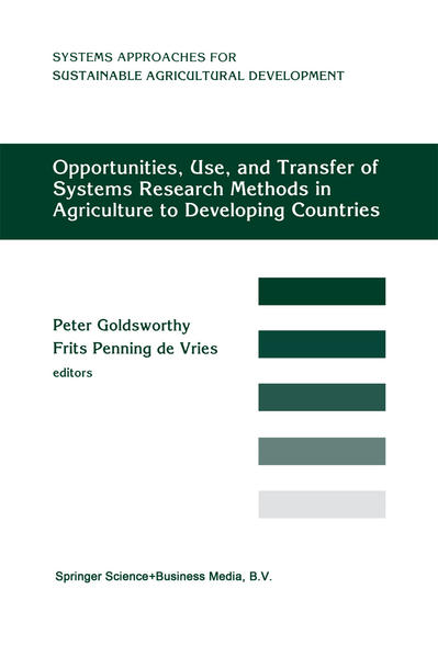 Opportunities, Use, And Transfer Of Systems Research Methods In Agriculture To Developing Countries - Coverbild