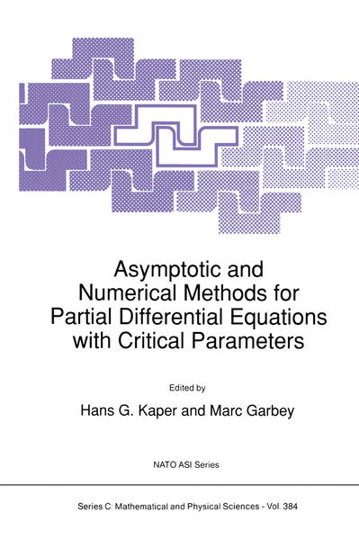 Asymptotic and Numerical Methods for Partial Differential Equations with Critical Parameters - Coverbild