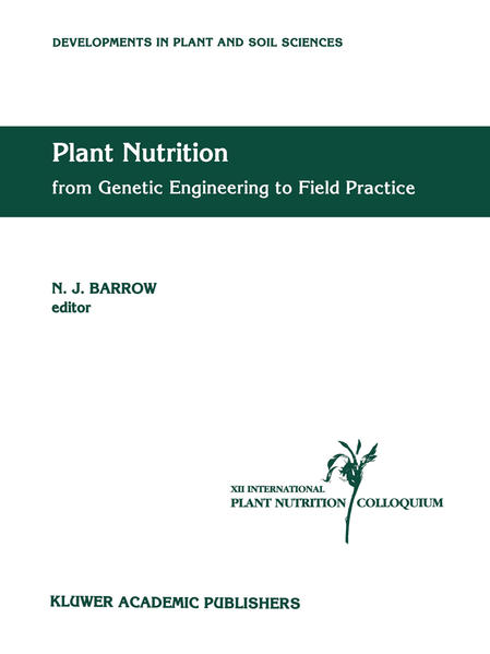 Plant Nutrition — from Genetic Engineering to Field Practice - Coverbild