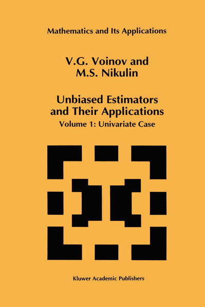 Unbiased Estimators and Their Applications - Coverbild