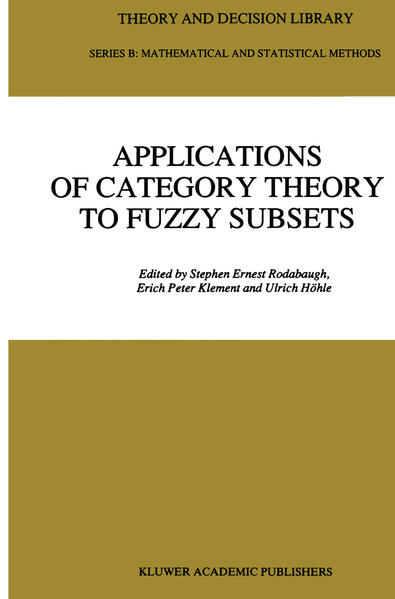 Applications of Category Theory to Fuzzy Subsets - Coverbild