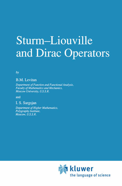 Sturm—Liouville and Dirac Operators - Coverbild