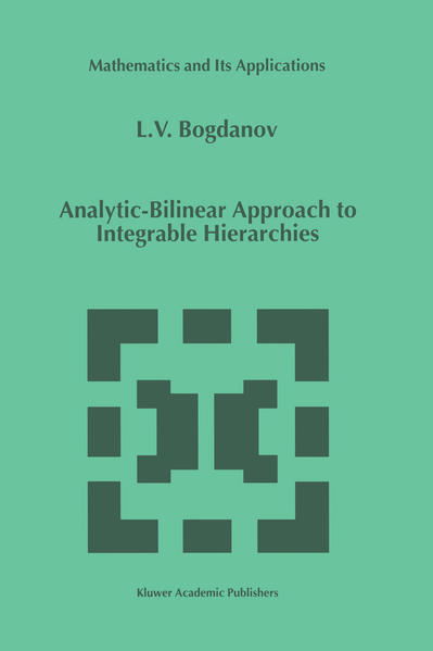 Analytic-Bilinear Approach to Integrable Hierarchies - Coverbild