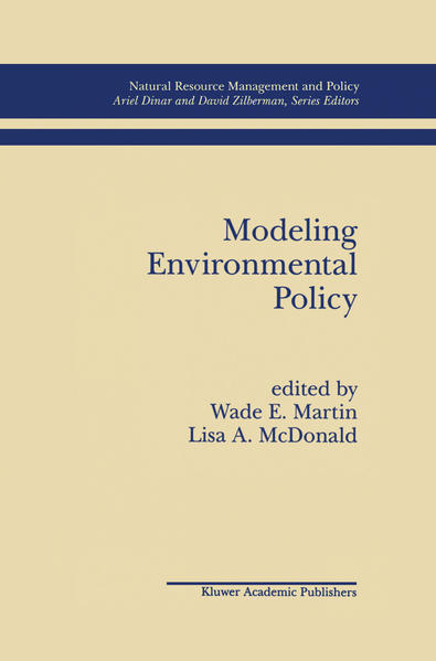 Modeling Environmental Policy - Coverbild