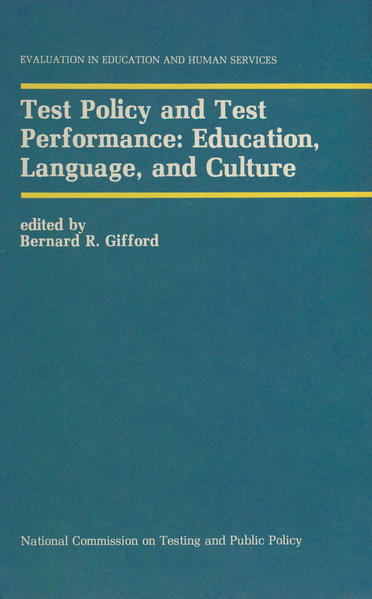 Test Policy and Test Performance: Education, Language, and Culture - Coverbild