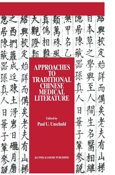 Approaches to Traditional Chinese Medical Literature - Coverbild