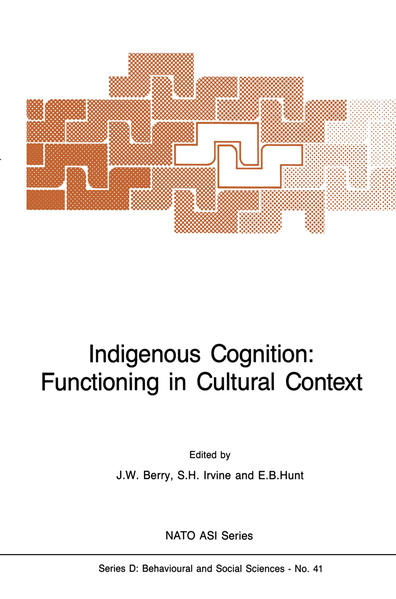 Indigenous Cognition: Functioning in Cultural Context - Coverbild