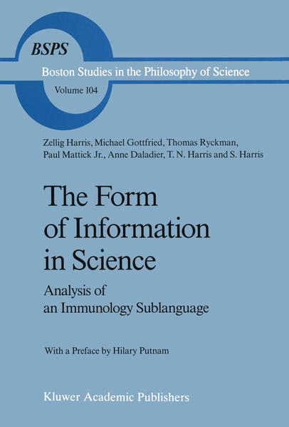 The Form of Information in Science - Coverbild