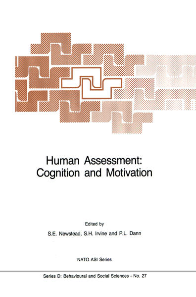 Human Assessment: Cognition and Motivation - Coverbild