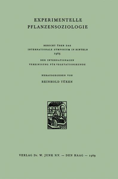 Experimentelle Pflanzensoziologie - Coverbild