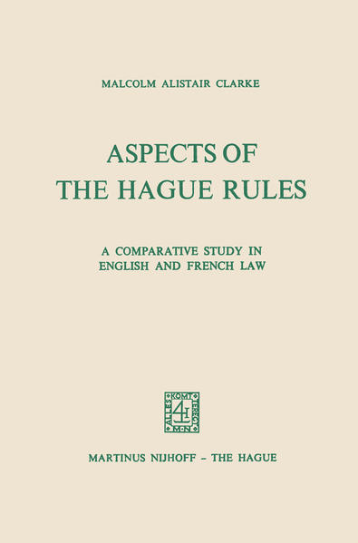 Aspects of the Hague Rules - Coverbild