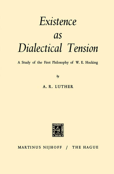 Existence as Dialectical Tension - Coverbild