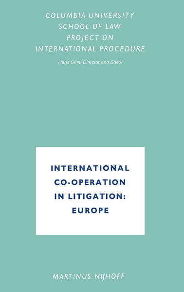 International Co-Operation in Litigation: Europe - Coverbild