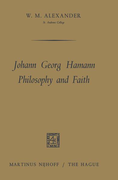 Johann Georg Hamann Philosophy and Faith - Coverbild