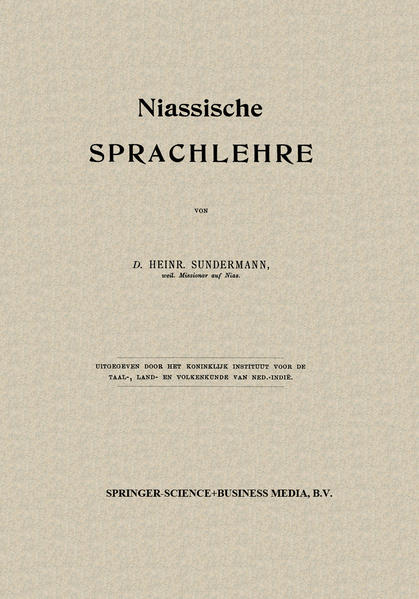 Niassische Sprachlehre - Coverbild