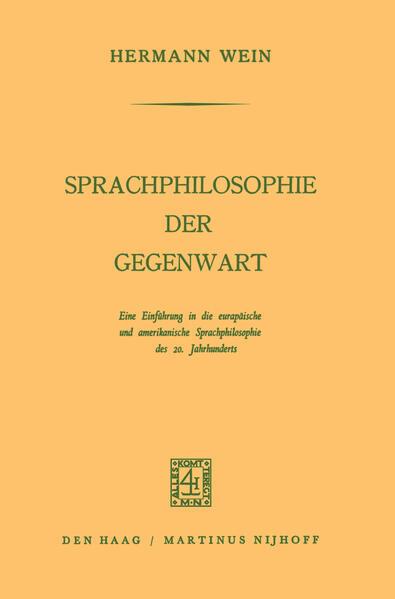 Sprachphilosophie der Gegenwart - Coverbild