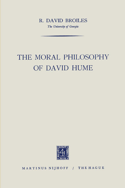 The Moral Philosophy of David Hume - Coverbild