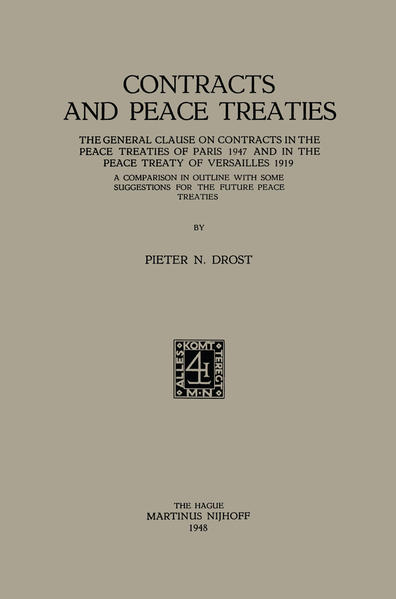 Contracts and Peace Treaties - Coverbild