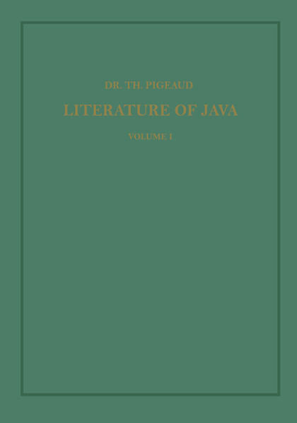Synopsis of Javanese Literature 900–1900 A.D. - Coverbild