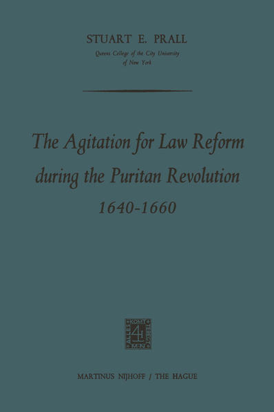 The Agitation for Law Reform during the Puritan Revolution 1640–1660 - Coverbild