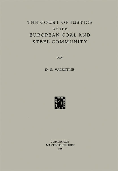 The Court of Justice of the European Coal and Steel Community - Coverbild