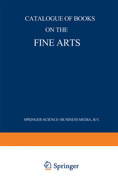Catalogue of Books on the Fine Arts - Coverbild