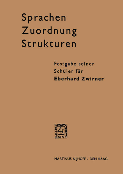 Sprachen - Zuordnung - Strukturen - Coverbild