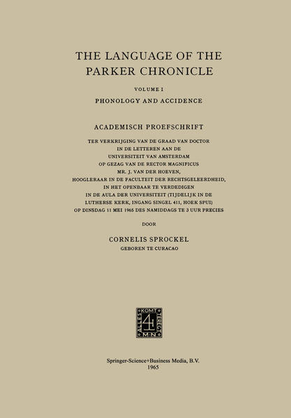 The Language of the Parker Chronicle - Coverbild