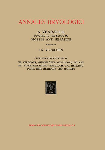 Studien über Asiatische Jubuleae (De Frullaniaceis XV–XVII) mit Einer Einleitung: Bryologie und Hepaticologie Ihre Methodik und Zukunft - Coverbild