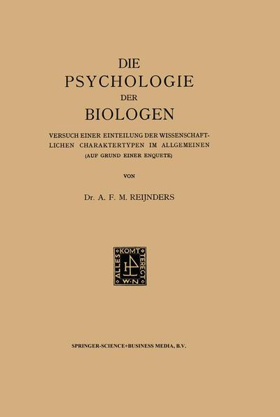 Die Psychologie der Biologen - Coverbild