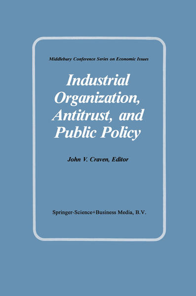 Industrial Organization, Antitrust, and Public Policy - Coverbild