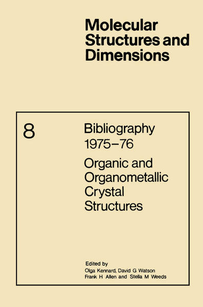 Bibliography 1975–76 Organic and Organometallic Crystal Structures - Coverbild