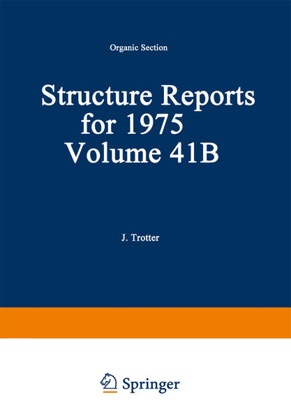 Structure Reports for 1975 - Coverbild