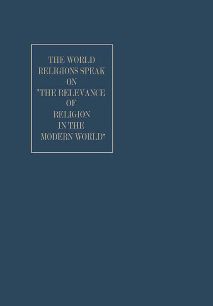 "The World Religions Speak on ""The Relevance of Religion in the Modern World"" - Coverbild"