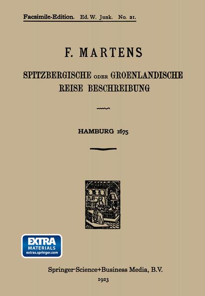 Spitzbergische oder Groenlandische Reise Beschreibung gethan im Jahr 1671 - Coverbild