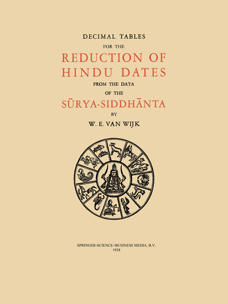 Decimal Tables for the Reduction of Hindu Dates from the Data of the Surya-Siddhanta - Coverbild